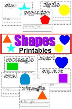 Free Shapes Printable Worksheets + Writing Activities Free printable Shapes & Handwriting practice worksheets - perfect for preschool & kindergarten writing practice. Can easily turn this into a color coordination exercise as well. Handwriting Practice Worksheets, Improve Your Handwriting, Improve Handwriting, Handwriting Analysis, Printable Shapes, Printable Worksheets, Free Printables, Tracing Worksheets, Preschool Worksheets