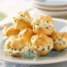 Party Crab Puffs Recipe -I received this recipe years ago from my grandmother. She also told me to have fun being creative and experimenting in the kitchen. My friends request these little puffs at every gathering. —Jean Bevilacqua, Rhododendron, Oregon