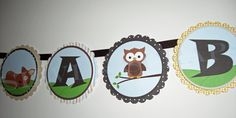 super cute forest animals shower banner