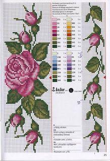 Really nice Cross-Stitch towel flowers patterns. Cross Stitch Bookmarks, Cross Stitch Rose, Cross Stitch Borders, Cross Stitch Flowers, Cross Stitch Charts, Cross Stitch Designs, Cross Stitching, Cross Stitch Embroidery, Cross Stitch Patterns