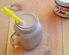 Nutella and bananas come together to create this smooth and creamy nutella banana smoothie perfect for breakfast or dessert.