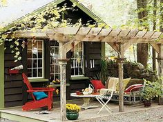 """a """"destination"""" shed would be awesome! just imagine a nice fire pit nearby for s'mores!"""