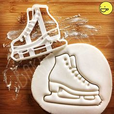 Ice Skating Shoe Cookie Cutter cutters also suitable for