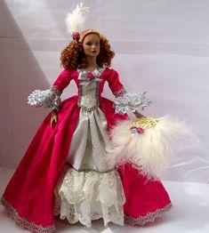 Fashion Doll | 18TH CENTURY GOWN ON 16 INCH FASHION DOLL. | Angeliqueminiatures Blog