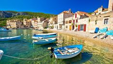 """In the original """"Mamma Mia,"""" the Greek island of Skopelos played the fictional island of Kalokairi. But to shoot """"Mamma Mia! Here We Go Again,"""" filmmakers turned to the island of Vis, off the coast … Mamma Mia, Dubrovnik, Croatian Islands, Krka National Park, Paraiso Natural, Going On Holiday, Day Tours, Beautiful Islands, Belle Photo"""