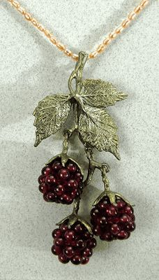 Silver Seasons - Michael Michaud - Raspberry Pearl Pendant