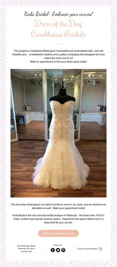 Koda Bridal- Embrace your curves! Dress of the Day Casablanca Bridals