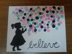 Hey, I found this really awesome Etsy listing at https://www.etsy.com/listing/177406836/girl-blowing-bubbles-believe-canvas