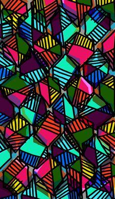 Love these colours and lines! Textile Patterns, Cool Patterns, Beautiful Patterns, Print Patterns, Textile Design, Geometric Shapes Art, Textiles Sketchbook, Fashion Design Template, Leaf Art