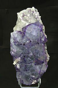 Fluorite with Quartz, Location Unknown