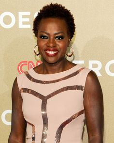 Actress Viola Davis rocked her cute afro to attend the 2012 CNN Heroes: An All Star Tribute, in Los Angeles, CA.