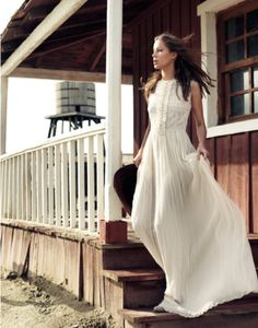 A white gown