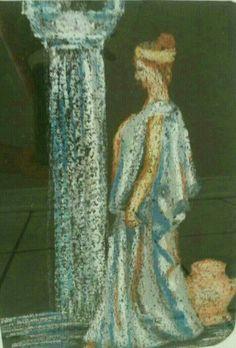 ملكات من التاريخ. .تدمر أسطورة الزمان والمكان.  من اعمالي.رسم بأقلام الباستيل.