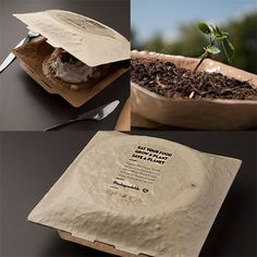 plant-main, eco-packaging that encourage you to plant the seeds that are included within the package to sustain a new plant