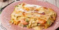 Lasanha de Camarão | Receitas do Chef em Família Pasta Recipes, Cooking Recipes, Healthy Recipes, Portuguese Recipes, Portuguese Food, Tasty, Yummy Food, Fish Dishes, Carne