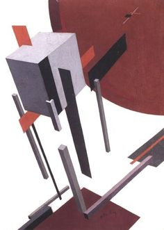 """Proun - He was a huge proponent in Russian constructivism. Here he uses the modeling of forms to bring his trademark geometric shapes into the dimension. Bauhaus, Mises En Page Design Graphique, Art Graphique, Graphic Design Illustration, Graphic Art, Illustration Art, Russian Constructivism, Constructivism Architecture, Avantgarde"