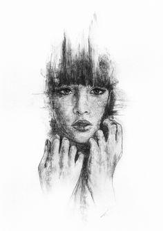 Watersoluble sketching pencil on paper, Richard Stark ART Realistic Pencil Drawings, Pencil Art Drawings, Easy Drawings, Drawing Sketches, Drawing Ideas, Sketching, Simple Artwork, Trending Art, Charcoal Art