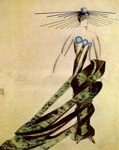 "Alexandra Exter. Figurín para el vestuario de ""Aelita, Queen of Mars"" de Tolstoi"