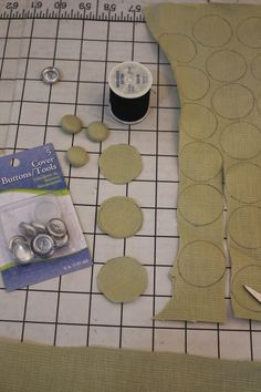 backs will come off when you tuft So glue all of the backs onto the buttons - DIY Tufting