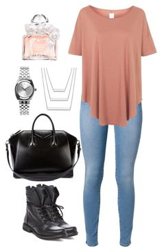 """DAILY"" by outfit-stagram ❤ liked on Polyvore featuring мода, 7 For All Mankind, Steve Madden, Topshop, Givenchy, Nixon, Guerlain и outfit"
