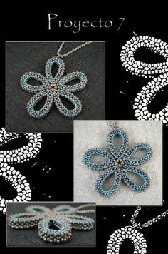 Seed Bead Patterns, Beaded Jewelry Patterns, Beading Patterns, Geometric Necklace, Geometric Jewelry, Seed Bead Necklace, Seed Bead Jewelry, Beaded Spiders, Right Angle Weave