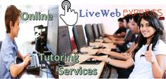 The online tutoring is the best approach #Online_tutoring_services,to provide such a help #Free_chat_online_tutoring,to the students.This help is delivered by the expert tutors #Collage_papers,and a very small extent is supposed to be #Research_paper_help,paid by them for getting such a help.  Visit Here  http://www.livewebexperts.com/