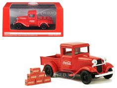 diecastmodelswholesale - 1934 Ford Model A Coca Cola Pickup Truck with 6 Bottle Cartons 1/43 Diecast Model Car by Motorcity Classics, $14.99 (https://www.diecastmodelswholesale.com/1934-ford-model-a-coca-cola-pickup-truck-with-6-bottle-cartons-1-43-diecast-model-car-by-motorcity-classics/)