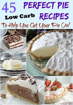 Get your Pie-on with these 45 Perfect Low Carb Pies and extras. Find recipes for pie crust, all kinds of homemade pies & sugar free toppings! GF, lchf, keto