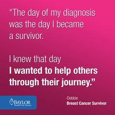 Words of #inspiration for #cancer #survivors. #cancer #support #Baylorhealth