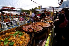 West African Food Stall in Camden Town