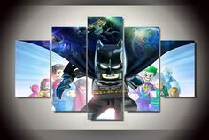 5 Panel Framed Printed Lego Batman Beyond Gotham Painting On Canvas Room Decoration Print Poster Picture Handmade Oil Paintings From Kittyfang, $70.69   Dhgate.Com