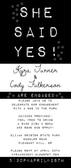 Bride, Groom Engagement Party Invite ~ Invitation Templates on - engagement party templates