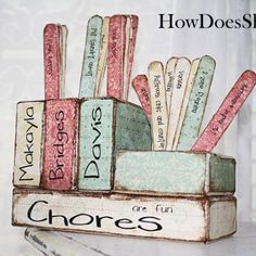 Chore Chart for Multiple Kids.. Great to have sitting on the counter when they come home for school. They see it and automatically know what they have to do!