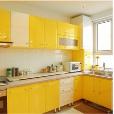 Kitchen Room Design, Kitchen Sets, Kitchen Colors, Kitchen Interior, Kitchen Decor, Wallpaper For Kitchen Cabinets, Modern Kitchen Cabinets, Painting Kitchen Cabinets, Kitchen Tiles