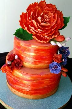 Summer Sunset by Bliss Pastry on cakecentral.com - shut up that this is edible.