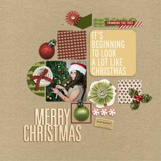 Hello Christmas Collection + Iffy's Calendar Countdown Templates from Peppermint Creative | page by @kirstiegai #digiscrap