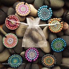 Aboriginal Jewellery sunrise design Dot Painted by RaechelSaunders