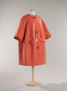 Cocktail coat | House of Givenchy (French, founded 1952). Designer: Hubert de Givenchy | France, 1960 | Material: wool | The Metropolitan Museum of Art, New York