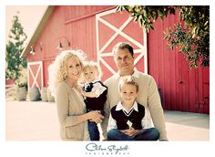 Vintage country red barn modern family portraiture by Chelsea Elizabeth Photography, via Flickr