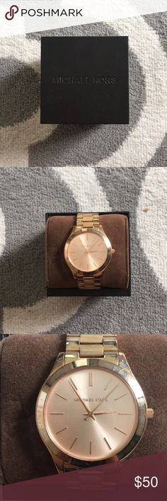 Michael Kors Rose Gold Women's Watch Beautiful Rose Gold Watch. Lightly used. Almost like new! KORS Michael Kors Accessories Watches