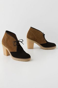 love everything BUT the plastic heel. Yuma Booties #anthropologie
