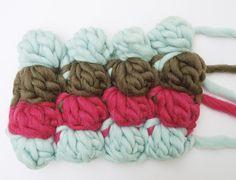 Punto burbuja crochet