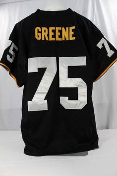 Details about Pittsburgh Steelers Joe Greene  75 Black Jersey 1975 Mitchell    Ness 50 Stitched fe7d4460c
