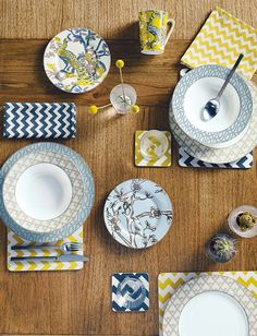 House of Fraser - graphic tableware