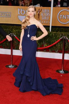 SAG Awards 2013: Amanda Seyfried, en un look de Pre-fall 2013 de Zac Posen.