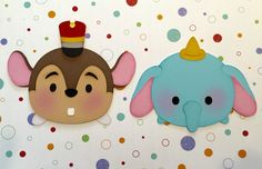 Dumbo and Timothy tsum tsum premade paper piecing with SVG file #tsumtsum #dumbo #disney #paperpiecingpals