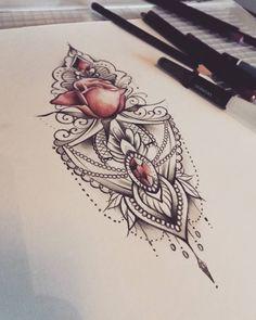 """Gefällt 246 Mal, 14 Kommentare - Sanni Voutilainen (@sanni_ink) auf Instagram: """"Vapaa kuva #lacetattoo #rosetattoo #mandala #mandalatattoo #diamonds #soulskintattoo #turkutattoo"""""""