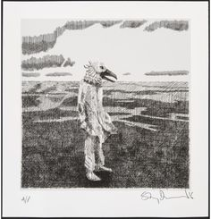 'Gull' by Stanley Donwood (screen print)