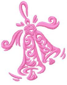 Christmas bell free embroidery design. Machine embroidery design. www.embroideres.com