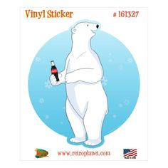 Coca-Cola Polar Bear Warm Hug Decal 24 x 24 Peel and Stick